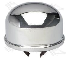 Chrome Oil Filler Breather Cap - Push In / On Style