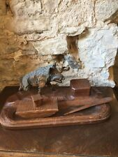 alter Schreibtischaufsatz  Massivholz Handarbeit Jäger
