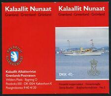 Greenland 1990 Complete Booklet Scott 217a & 224x10 (Facit H2) Mnh (*) Cv$47 0A
