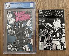 IRON MAN #282 CGC 9.6 (1992) Beautiful! NM+ White Pages! AND War Machine #1 NM+