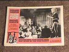 THIS SPORTING LIFE 1963 LOBBY CARD #7