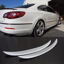 """Pair 13"""" White Carbon Wrap Wide Body Fender Flares Lip For BMW Audi Wheel Wall"""