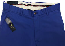 Men's POLO GOLF RALPH LAUREN Bright Blue Twill Pants 32x30 NEW NWT Beautiful!