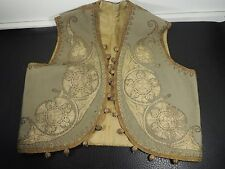 Victorian child's vest Waistcoat Floral Brocade Metallic Embroidery gold