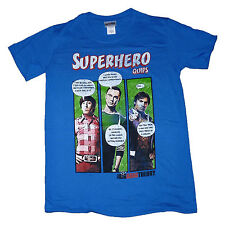 Big Bang Theory OFFICIAL T-Shirt Superhero Quips Comic Book Distrssed Print SALE