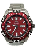 ORIENT EM7R-D3-B Automatic analog mens watch red 100M Diving sports