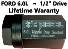 "Ford 6.0L ~HHC Diesel~ Ball Tube/Nipple Cup Tool ~1/2"" Drive Impact Lifetime War"