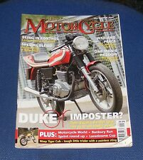 THE CLASSIC MOTORCYCLE SEPTEMBER 2005 - DUKE OR IMPOSTER?