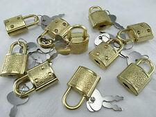 (lot de 10 pcs) mini cadenas laiton couleur petite TINY BOX serrure avec clés