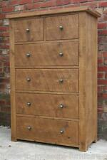 -any size made- SOLID WOOD 6 DRAWERS CHEST SIDEBOARD RUSTIC PLANK PINE FURNITURE