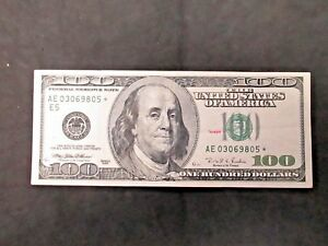 *unc  1996 $ 100 STAR NOTE free shipping