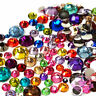 2000pcs 2/3/4/5mm Faceted Crystal Rhinestone Half Round Flatback Beads-WI