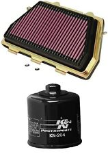 K&N Motorcycle Air Filter + Oil Filter Combo HA-1008 + KN-204