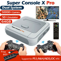 Super Console X PRO 4K WiFi TV Box Video Game Console For PS1/N64/DC 64GB