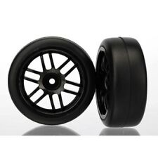 Traxxas 7376 Assm Black Wheels/Gymkhana Slicks (2): 1/16 Rally VXL