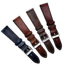 Geckota® Radstock Vintage Genuine Leather Watch Strap Handmade 18mm,19mm,20mm,22