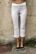 CONTE of FLORENCE Trousers WHITE Pants PIRATE JEANS STRETCH STRAIGHT W30 UK12