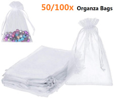 "50/100Pcs Organza Gift Candy Sheer Bags Pouches Wedding Party Favor Decor 4""x5"""