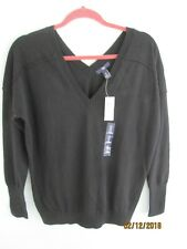 Gap V Neck Pullover Black Small