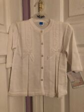 Nwt Will'Beth - Girl's White Cardigan - Wb-10720 - size 12 months