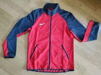 Nike Dry Woven Full Zip Running Track Jacket Men's Medium & Large Red 824407-657