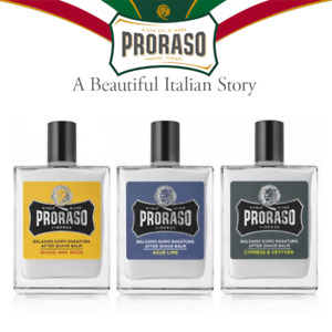 Proraso Aftershave Balm 100 ml, Azur Lime, Cypress & Vetyver, Wood and Spice
