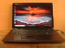 Asus A50IJ Laptop (Ref: B0508). Windows 10, 4GB Ram,320GB Hard Drive.