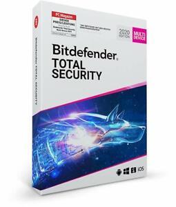 Bitdefender TOTAL SECURITY 2021 * 3 PC Geräte 3 Jahre * VPN, DE Lizenz