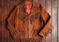VTG 70s PYPSA SUEDE LEATHER FRINGE WESTERN RANCH JACKET MADE IN MEXICO COWBOY 38