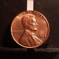 UNCIRCULATED 1963P LINCOLN MEMORIAL PENNY (103016)7