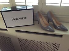 Nine West Flagship Grey Patent Ladies Court Shoes Size 7.5 UK5