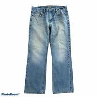 American Eagle Classic Bootcut Distressed Wear Denim Jeans Men's 32 X 32 Blue