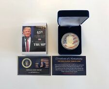 President Donald Trump... 24K Gold Overlay...2016 Commemorative Coin... with COA