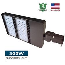 Led Shoebox Parking Lot Light 100w 150w 200w 300w Area Pole Street Light 5000k