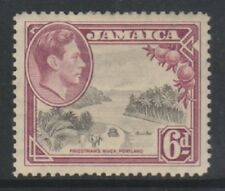 Jamaïque - 1938, 6d Noir & Violet Tampon - M/M - Sg 128a