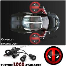 2X  X-men Deadpool Logo Car door Led Welcome laser projector Ghost Shadow Light