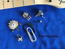 Upgrade Guitar Wiring Kit, PIO Russian Cap, Pots, 3 Way Switch, Fits Telecaster