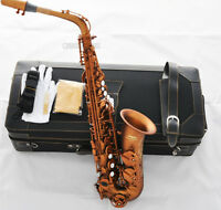 Professional Matte Coffee Eb Alto Saxophone New 875 Model Sax high F# With Case