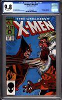 Uncanny X-Men 222 CGC Graded 9.8 NM/MT Sabretooth & Wolverine Marvel Comics 1987