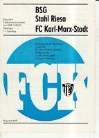 OL 74/75  FC Karl-Marx-Stadt - BSG Stahl Riesa