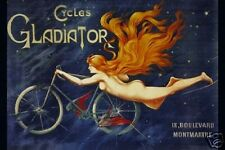 BICYCLE VINTAGE POSTER Cycles Gladiator French 12x18