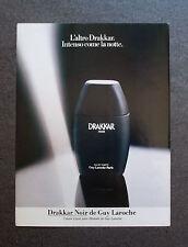 [GCG] H367 - Advertising Pubblicità -1983-  DRAKKAR NOIR EAU DE TOILETTE