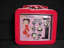 Betty Boop WATCH SET WITH SILVER BRACELET  DESIGN