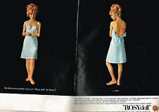 PUBLICITE ADVERTISING   1965   ROSY DOLL  soutien gorge (2 pages)
