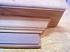 SOLID WALNUT 48 INCH HAND BUILT WALL SHELF, MANTEL, STAIN GRADE WOOD
