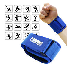 Weight Lifting Wrist Wraps Support Fitness Training Gym Bandage Straps Blue