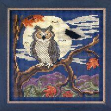 Night Owl Cross Stitch Kit Mill Hill 2012 Buttons & Beads Autumn