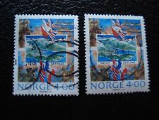 NORVEGE - timbre yvert et tellier n° 1000 x2 obl (A30) stamp norway