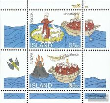 Islandia Bloque 15 (compl.edición) nuevo con goma original 1994 descubrimientos