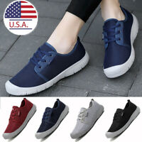 Womens Casual Comfort Canvas Shoes Flats Slip On Loafers Sneakers Gym Fashion US